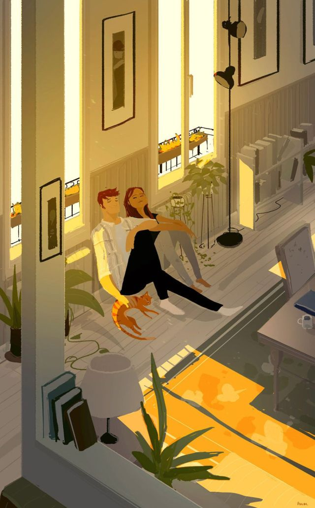 Husband's illustration beautifully captures his relationship with wife