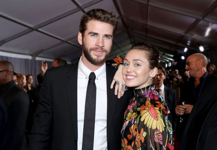 Miley Cyrus And Liam Hemsworth Step Out For Rare Red Carpet Appearance Miley Cyrus And Liam Hemsworth Step Out For Rare Red Carpet Appearance 59de26fe2d0000265e309bd1