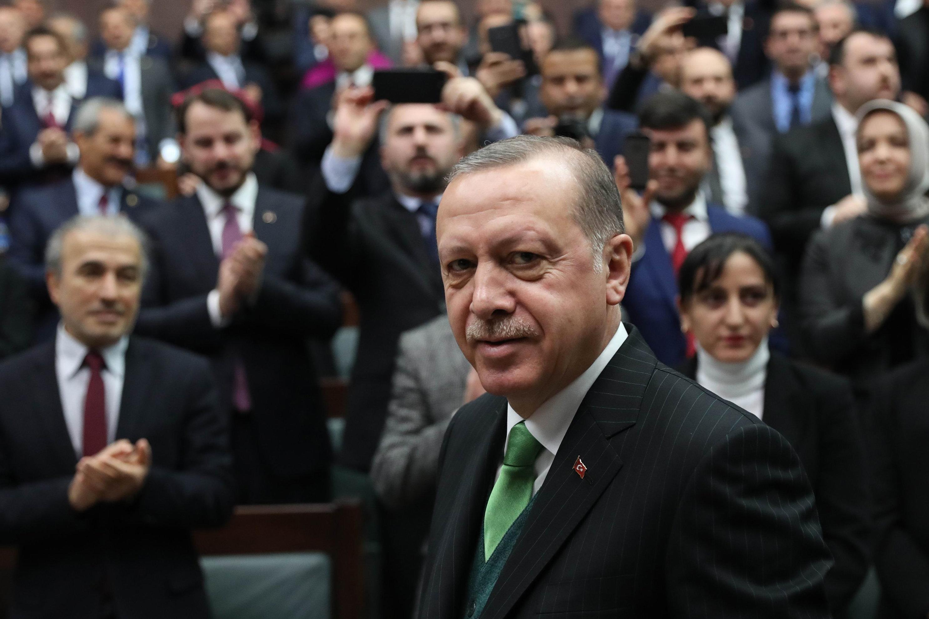 Ερντογάν, ελέω Αλλάχ