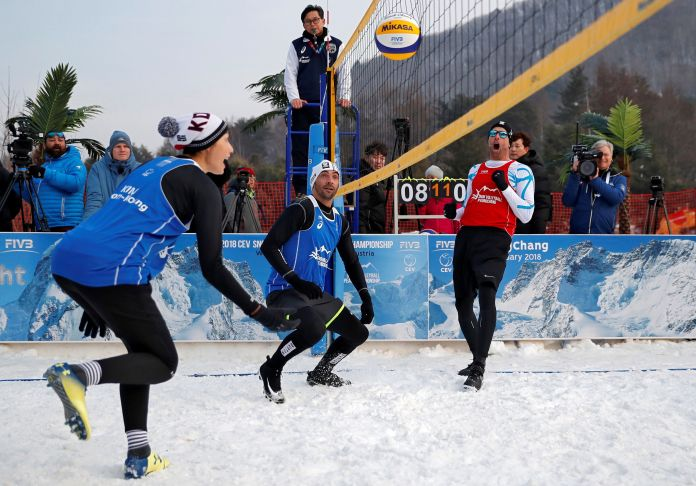 Snow Volleyball In The Olympics? Pyeongchang Exhibition Plants The Seed Snow Volleyball In The Olympics? Pyeongchang Exhibition Plants The Seed 5a850d841e00002c007abbf4