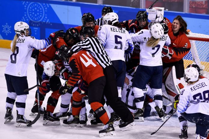 U.S. And Canada Fight To Finish And Beyond In Winter Olympics Hockey U.S. And Canada Fight To Finish And Beyond In Winter Olympics Hockey 5a8585232000002d00eaef47