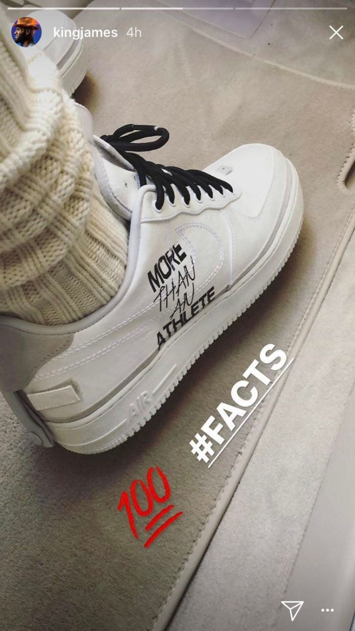 LeBron James Wears Sneakers With Pointed Message To All-Star Game LeBron James Wears Sneakers With Pointed Message To All-Star Game 5a8a43062000004d00eaf3ca