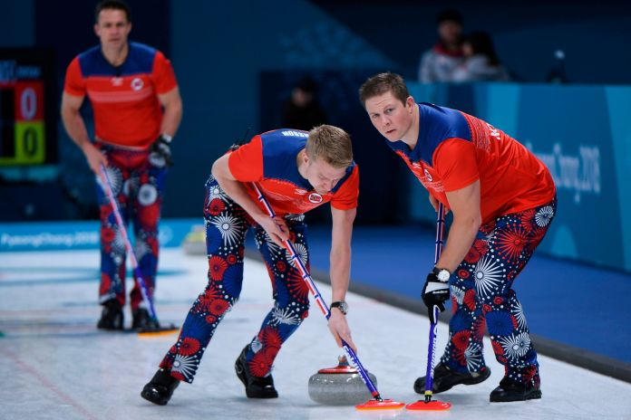 The Norwegian Curling Team Should Win Gold For Their Pants The Norwegian Curling Team Should Win Gold For Their Pants 5a8afb491e000046057ac260