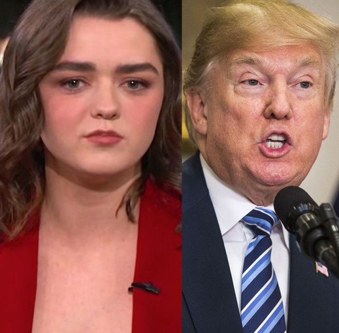Maisie Williams Zings Donald Trump While Teasing 'Game Of Thrones' Ending Maisie Williams Zings Donald Trump While Teasing 'Game Of Thrones' Ending 5a8d6ede210000eb06601df0