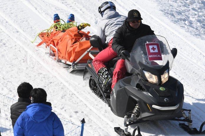 Canadian Skier Suffers Possible Broken Pelvis In Olympic Horror Crash Canadian Skier Suffers Possible Broken Pelvis In Olympic Horror Crash 5a8d7ba3210000c300601e04