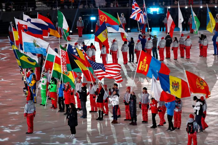 Stunning Photos Capture The 2018 Olympics' Closing Ceremony In All Its Glory Stunning Photos Capture The 2018 Olympics' Closing Ceremony In All Its Glory 5a92c78b2000002d00eafe56