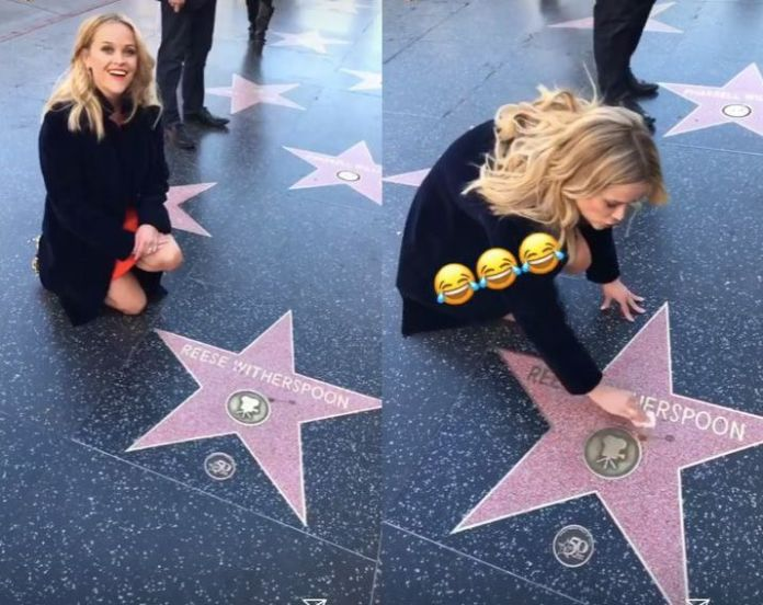 Reese Witherspoon Cleaning Her Own Hollywood Star Is Next-Level Extra Reese Witherspoon Cleaning Her Own Hollywood Star Is Next-Level Extra 5a9428912000003800eaffc0