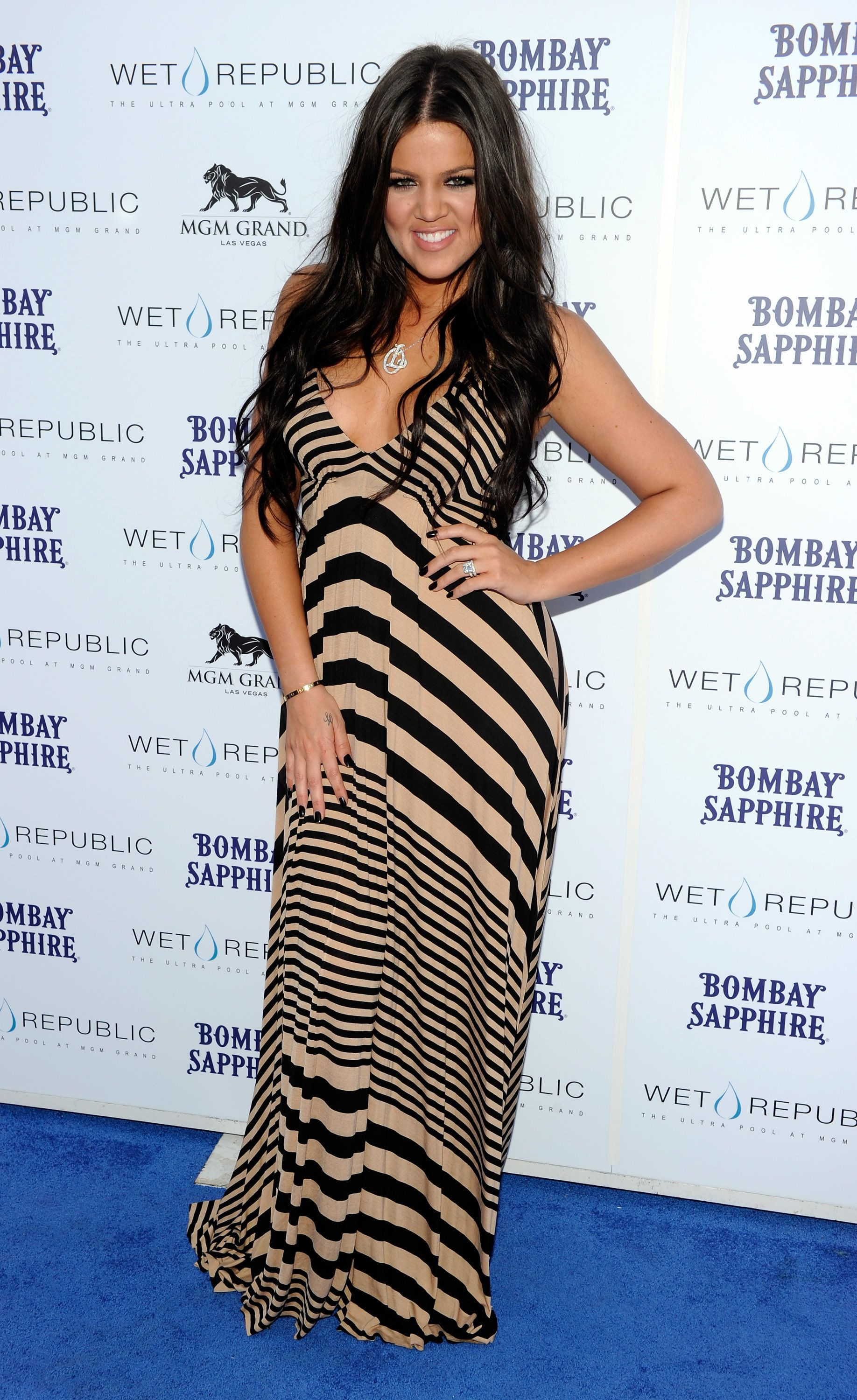 At the Wet Republic pool at the MGM Grand Hotel/Casino to celebrate her sister Kourtney's birthday in Las Vegas.