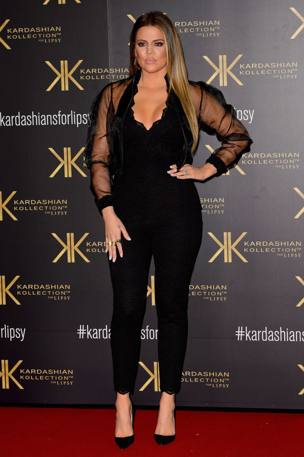 At thelaunch party for the Kardashian Kollection for Lipsy at the Natural History Museum in London.