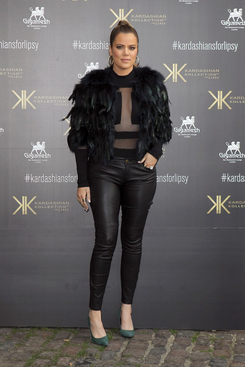 At a customer event to promote the Kardashian Kollection for Lipsy at Gilgamesh in London.