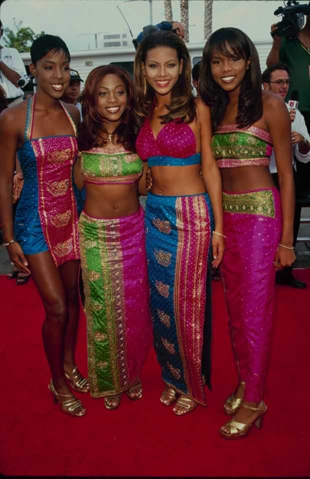 Rowland, Roberson, Knowles and Luckett at the Lady of Soul Awards in Los Angeles.