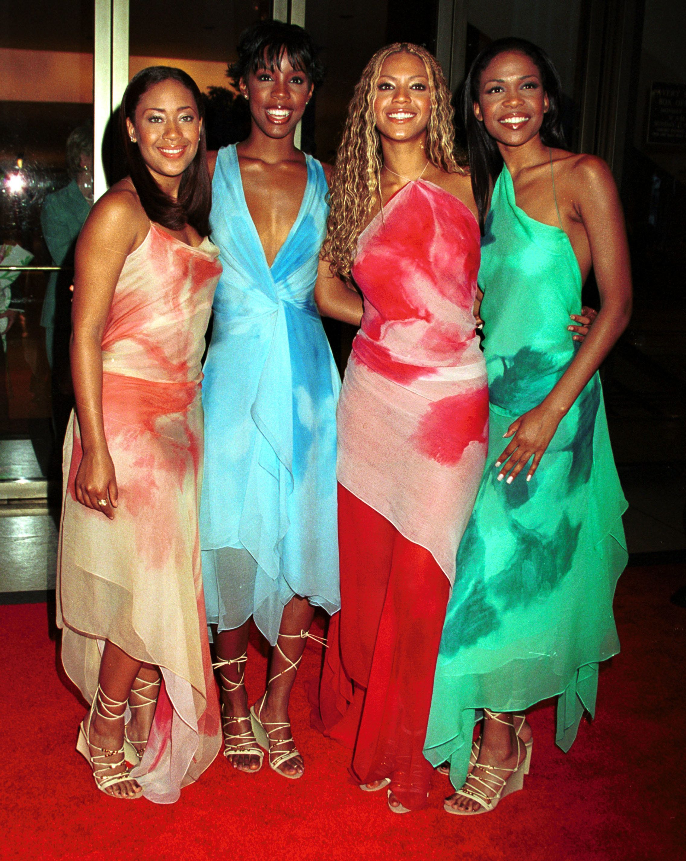 Franklin, Rowland, Knowles and Williams at the American Fashion Awards 2000 in New York City.