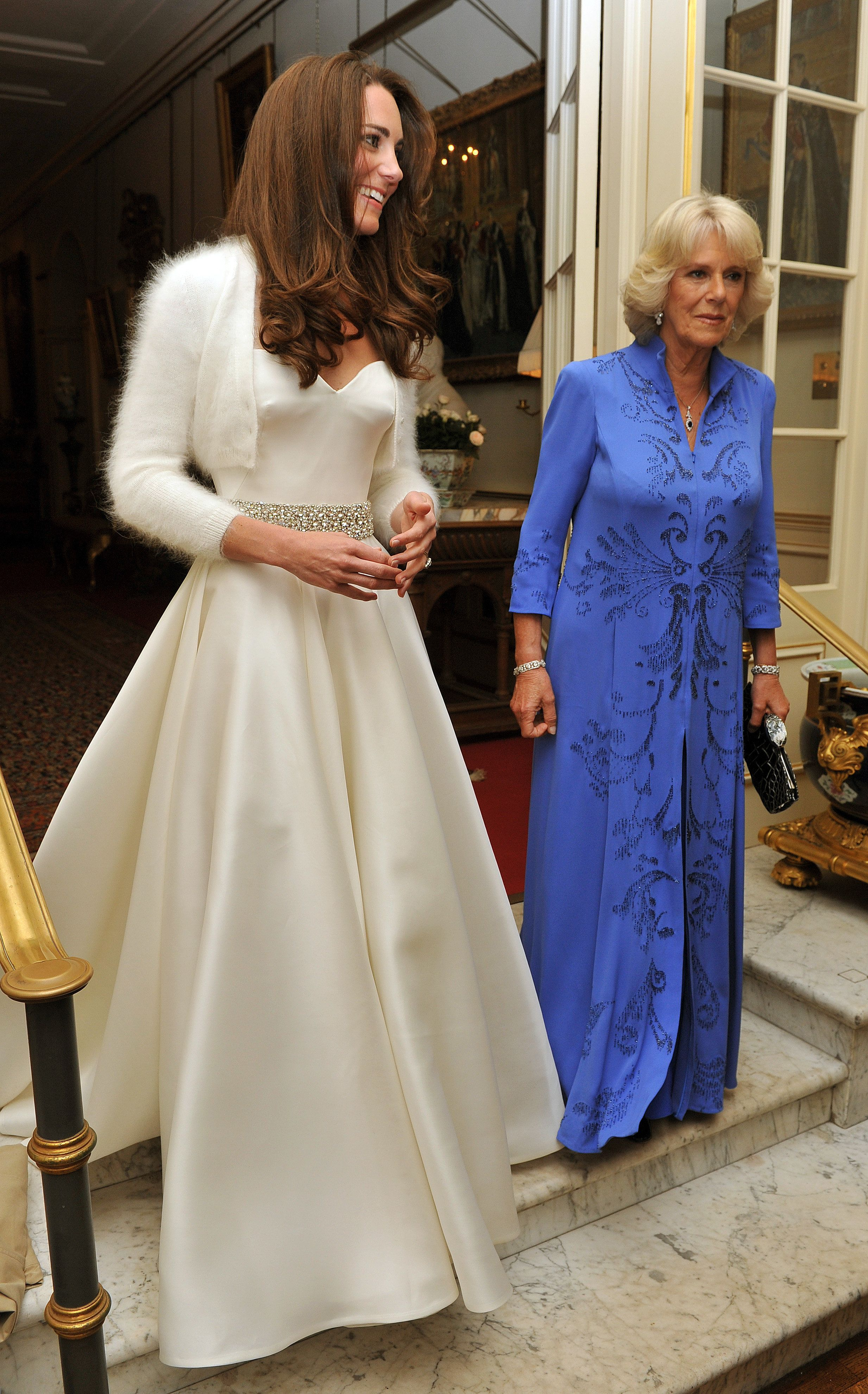 Later in the evening, the new Duchess of Cambridge changed into a less-formal Sarah Burton for Alexander McQueen go