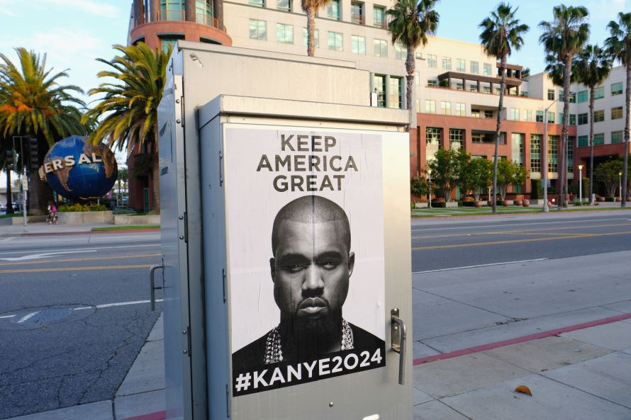 Kanye West tweeted an image containing these posters on Monday -- then quickly deleted it, according to a British music magaz