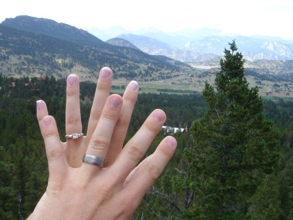 The Averys took this ring photo together right after they got engaged.