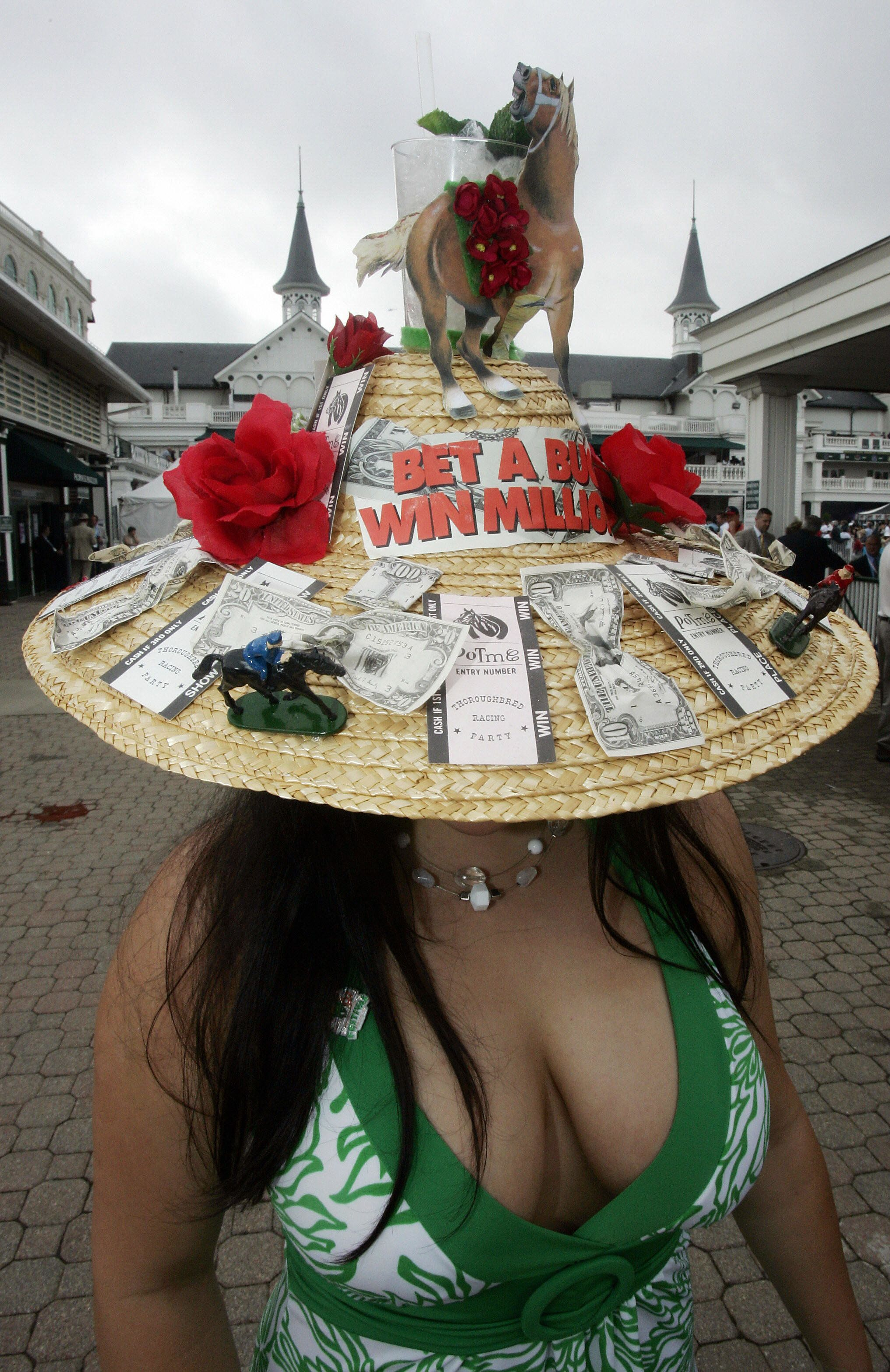 Brittney Graham wears her personally designed derby hat on May 5, 2007.