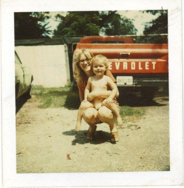 """""""Here's my mom, Jeannie Hester, and my older brother, Derrick Hester. It was taken in Owensboro, Kentucky, in 1976."""" --"""