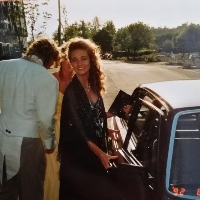 """""""The picture is taken right before my mom, Charlotta, and her sisterwent to a school dance in Västergötland,"""