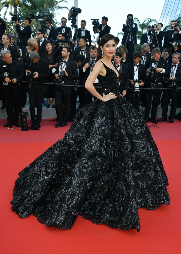 """In Michael Cinco Couture at the screening of """"Ash Is The Purest White (Jiang Hu Er Nv)."""""""