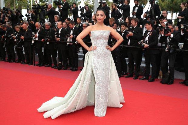 """Wearing Rami Kadi Coutureat the screening of """"Sink Or Swim (Le Grand Bain)"""" on May 13."""