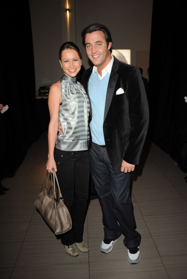 Withthen-boyfriendBen Mulroney at the Ford Models and L'Oreal Holiday Party at the L'Oreal Academy in Toronto.