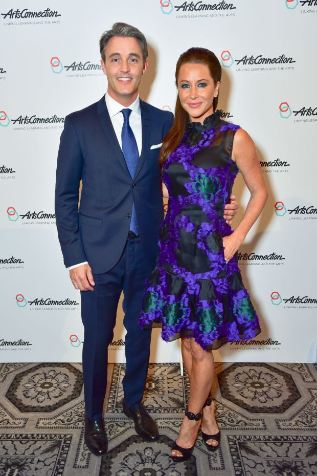 With her husband at the ArtsConnection 2016 Benefit Celebration at 583 Park Avenue in New York City.