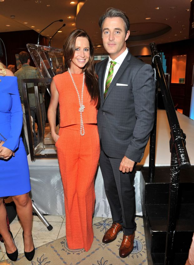 With her husband atthe Birks Diamond Tribute to Women in Film during the 2013 Toronto International Film Festival.