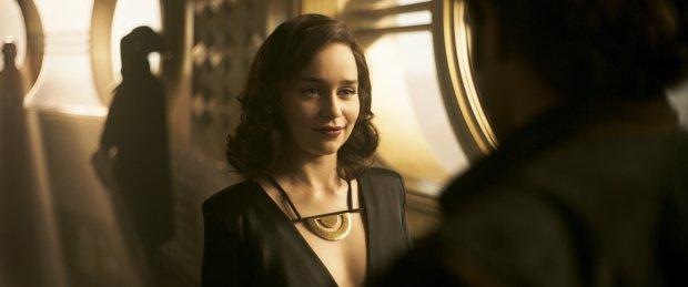 """Emilia Clarke in """"Solo: A Star Wars Story."""""""