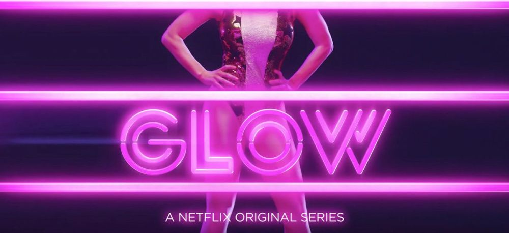 """A particularly unique font for the Netflix show, """"Glow."""""""