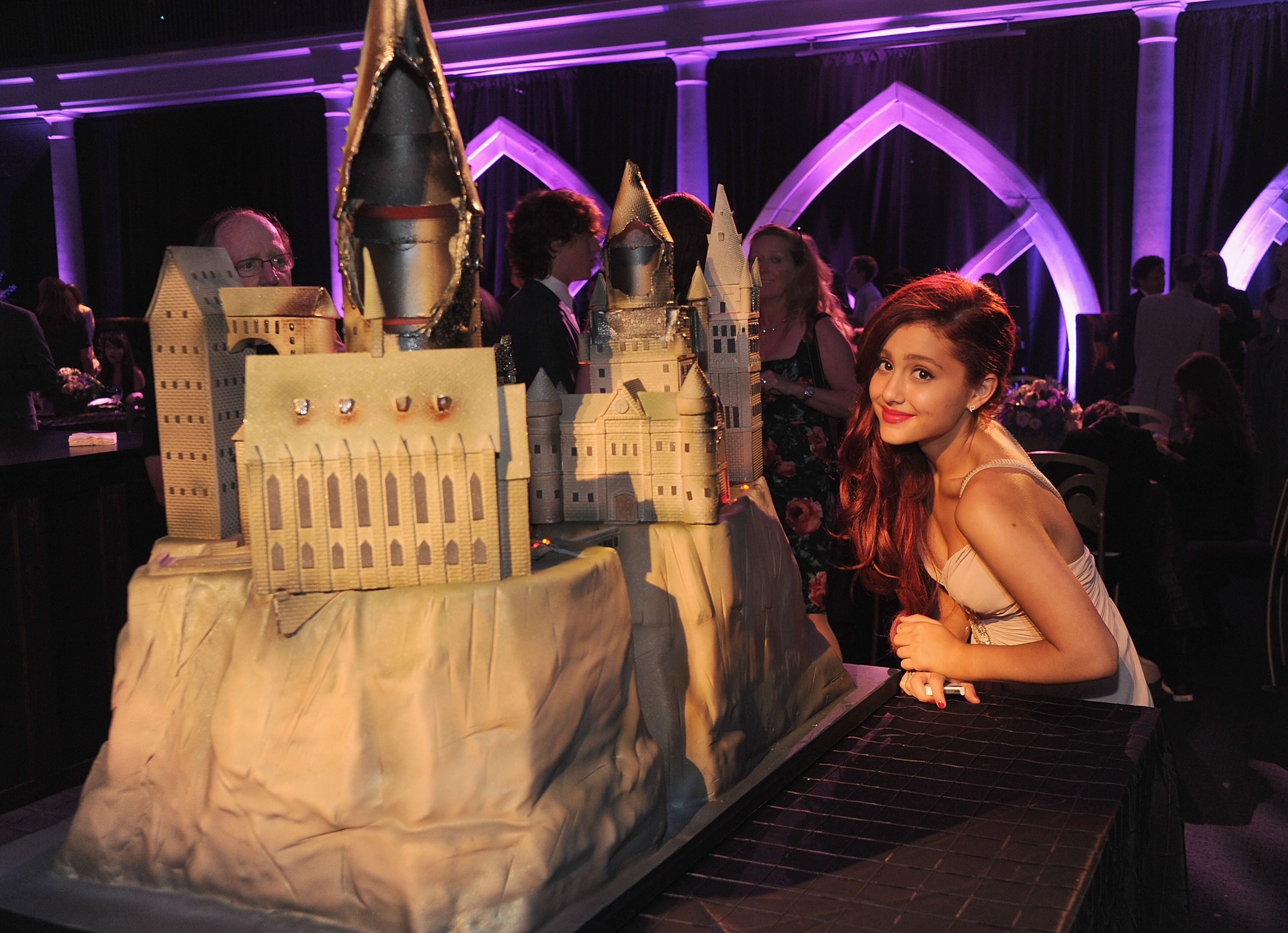 """Ariana Grande attended the premiere of """"Harry Potter and the Deathly Hallows: Part 2"""" in New York in July 2011."""