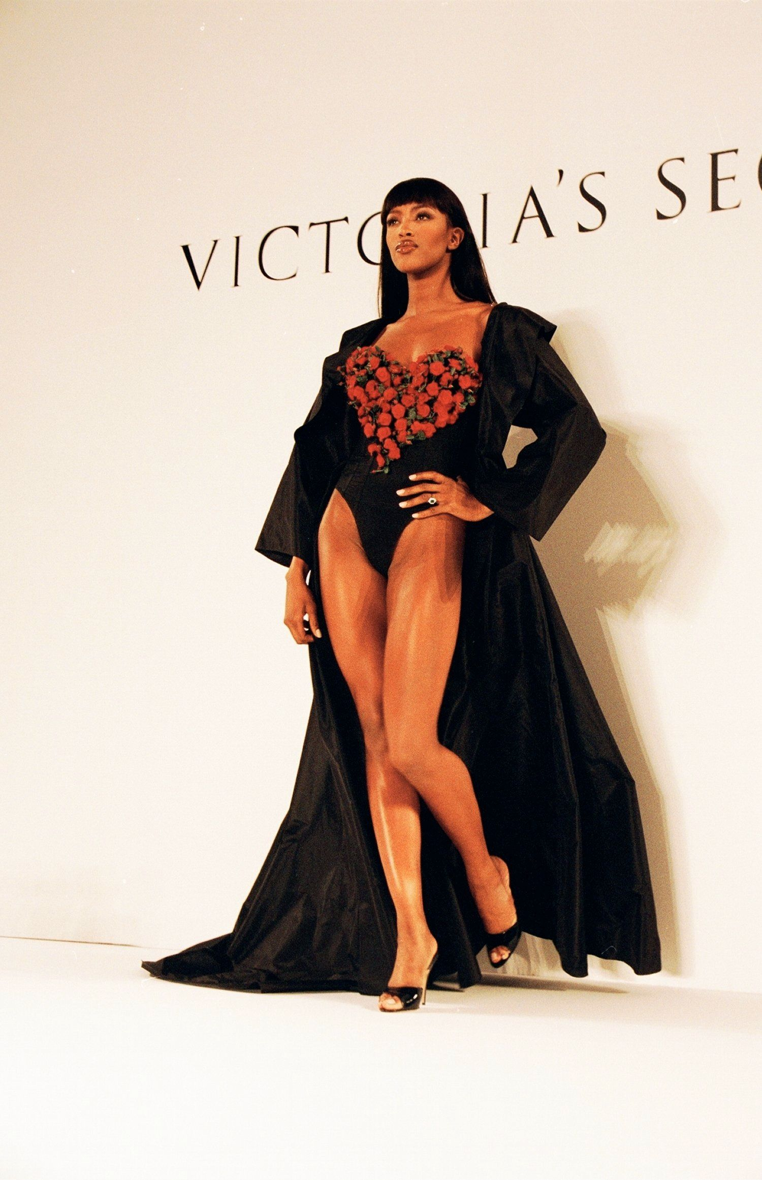Walking in a Victoria's Secret show.
