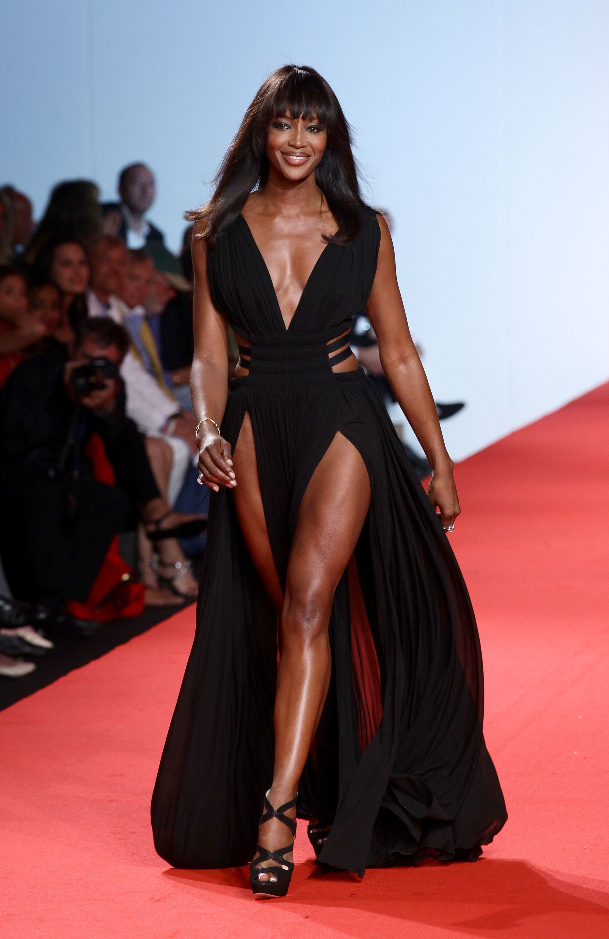 Walkingthe runway at the Fashion For Relief show during the Cannes Film Festival inFrance.