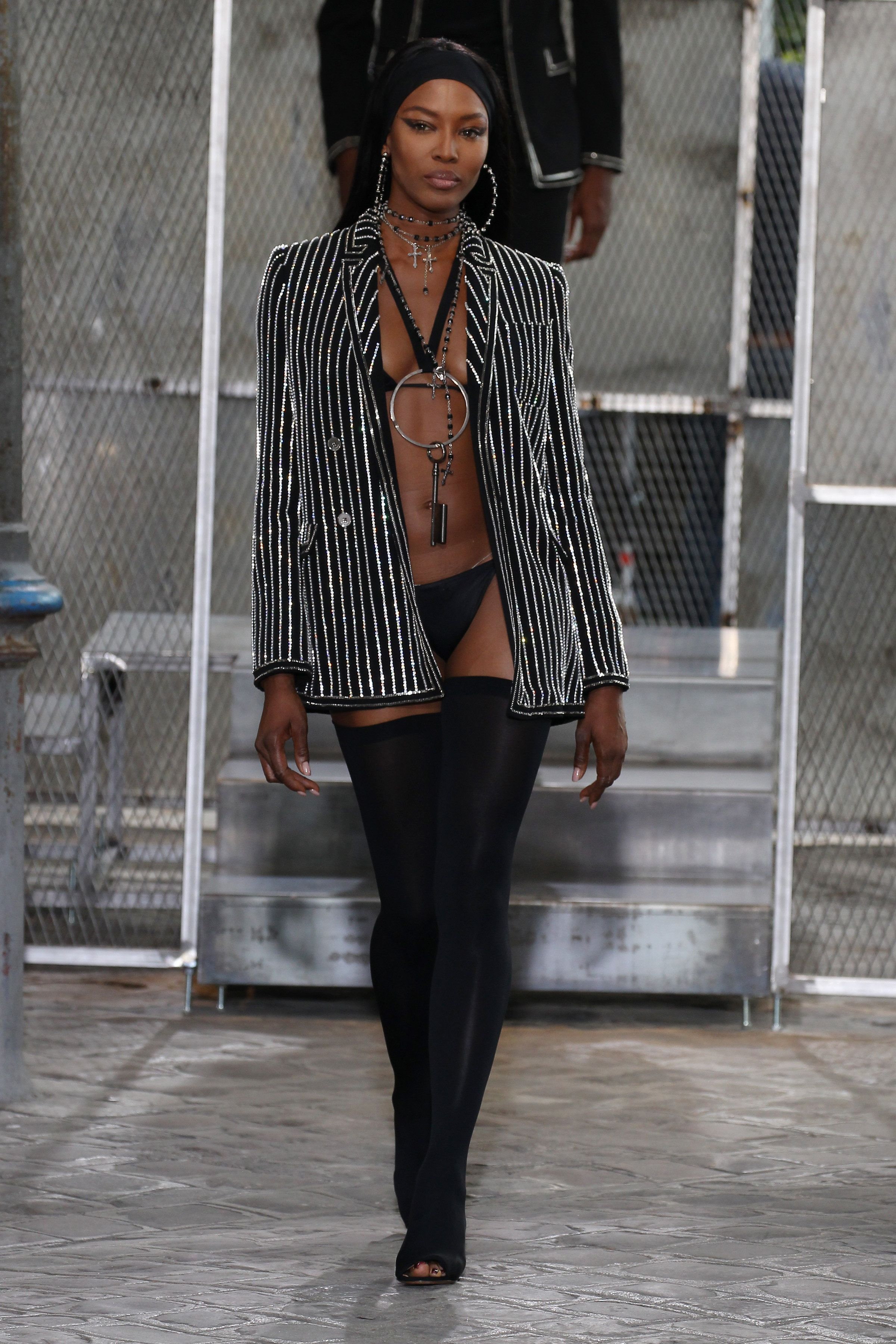 Atthe Givenchy spring/summer show as part of Paris Fashion Week.