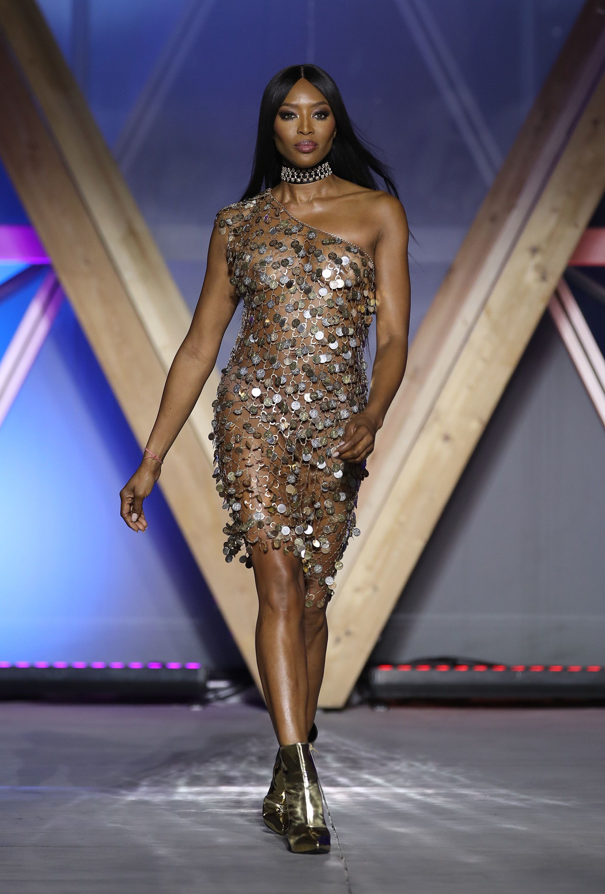 Walking the runway at the Fashion For Relief show during the Cannes Film Festival.