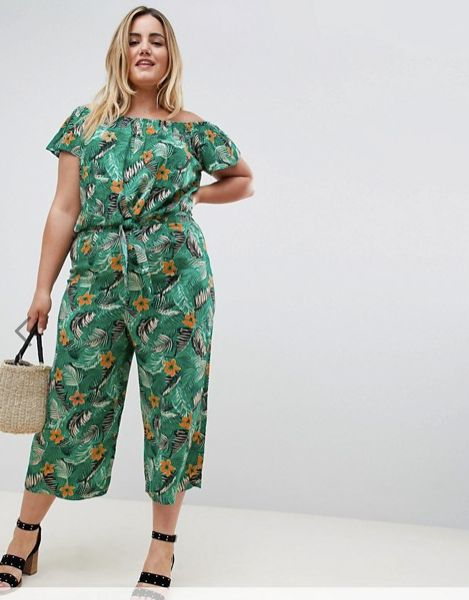 "Get the matching set&nbsp;<a href=""http://us.asos.com/new-look-plus/new-look-curve-tropical-crop-pants/prd/9916981?clr=green&"