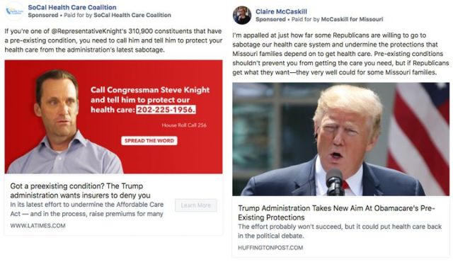 Candidates and political groups have started taking out ads attacking the Trump administration'sposition on prote