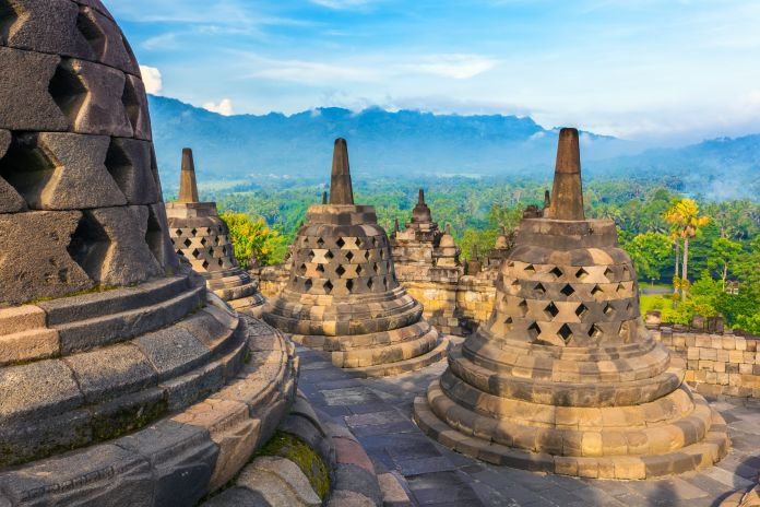 The Borobudur Temple Compounds in Indonesia.