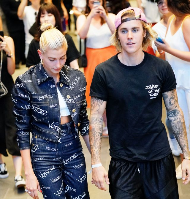Justin Bieber and Hailey Baldwin, seen together on Thursday, are reportedly engaged.