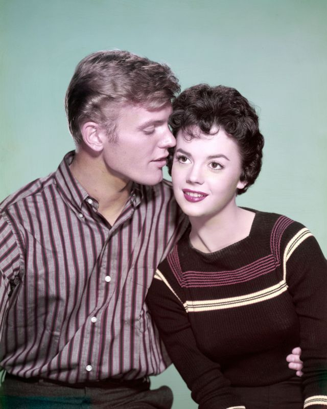 Tab Hunter and Natalie Wood pictured together in 1955.