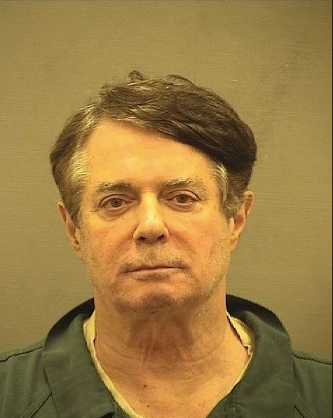 Paul Manafort's new mug shot. He was transferred to a jail in Alexandria, Virginia, from a facility about 100 miles awa