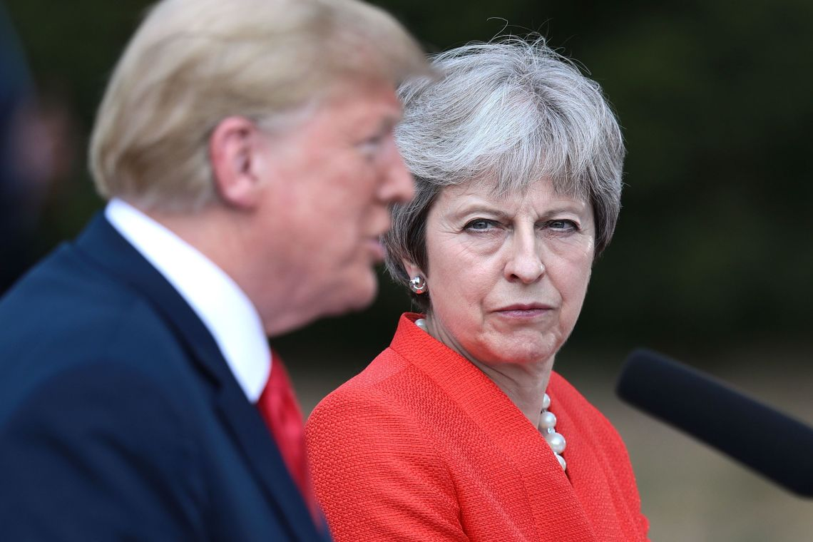 Theresa May's Love Actually moment saw her disagree with Donald Trump's views on immigration