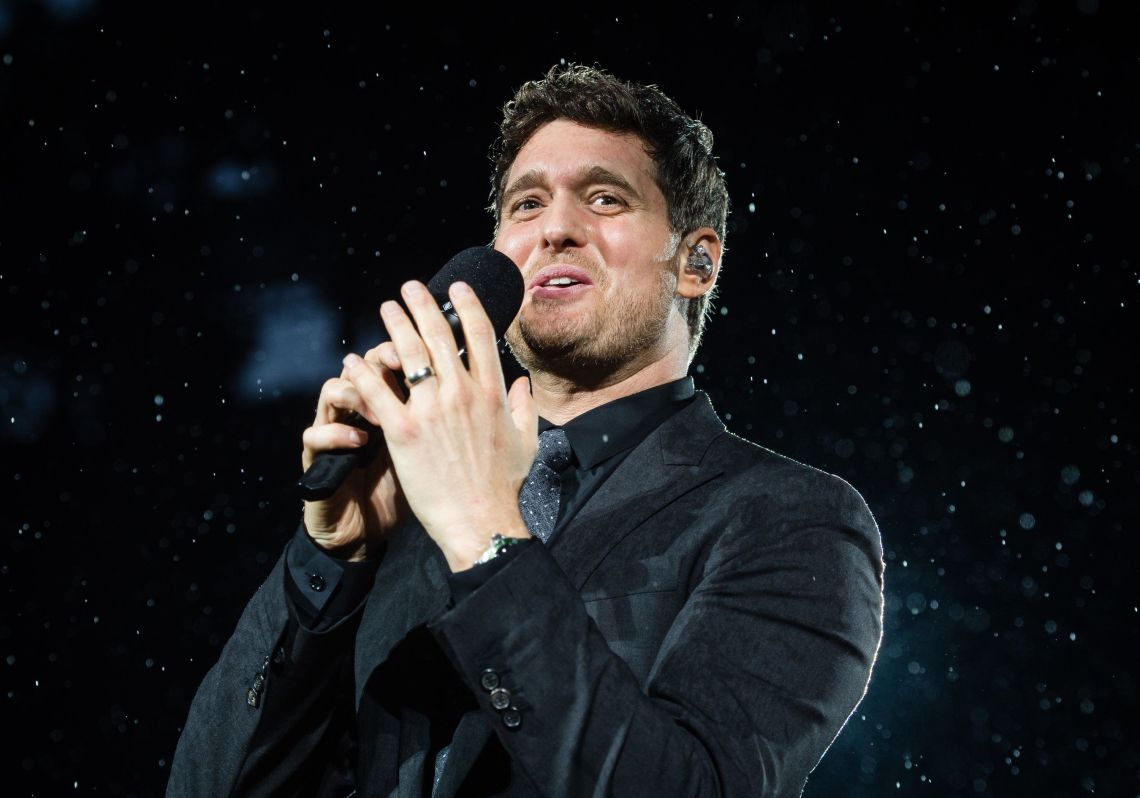 Michael Buble performs live at Barclaycard present British Summer Time Hyde Park at Hyde Park.