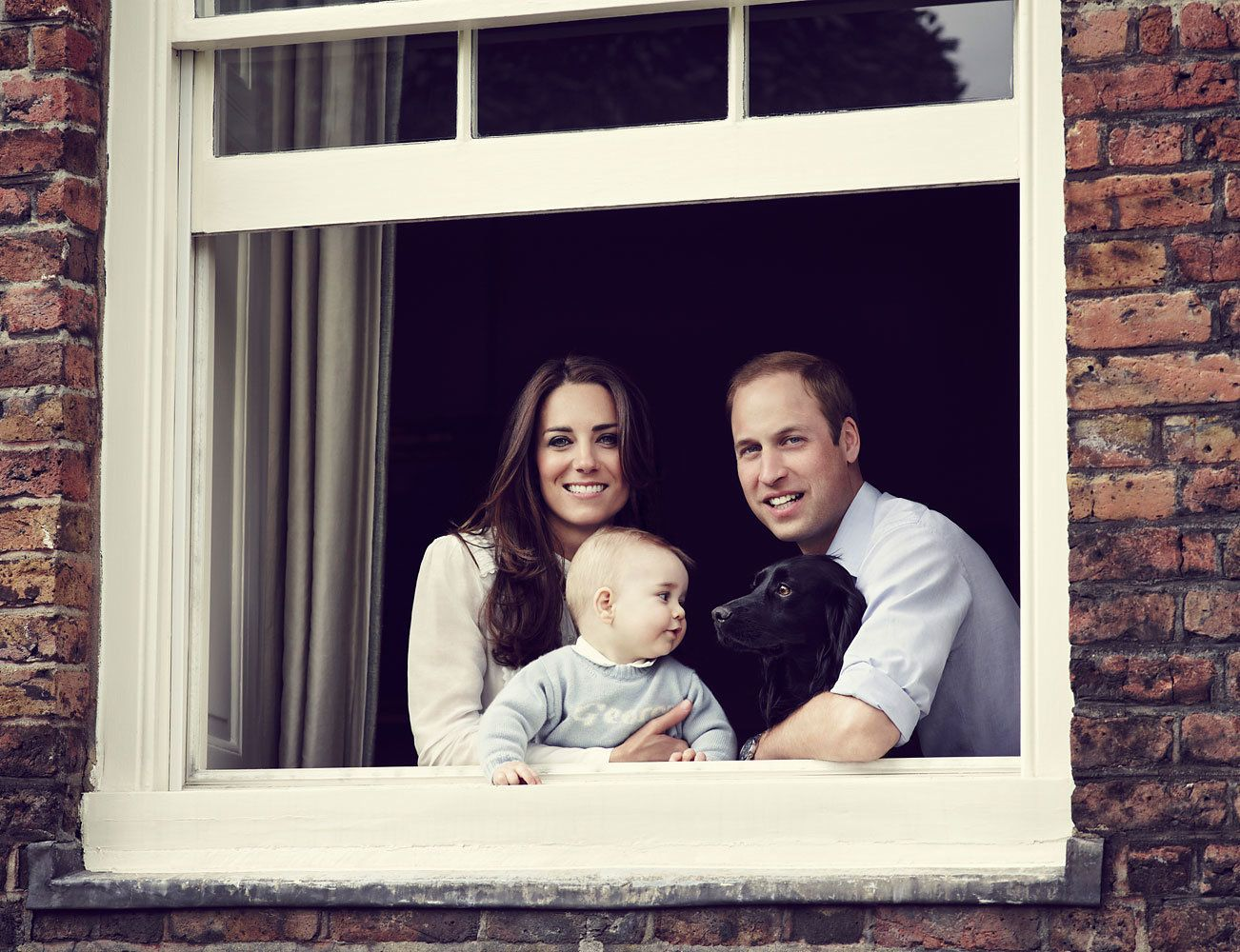 Family photo taken at Kensington Palace in March 2014.