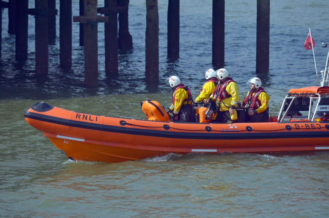 The RNLI carry on their search near Clacton Pier, Clacton-on-Sea in Essex after a teenage boy was reported missing in the water on Thursday.