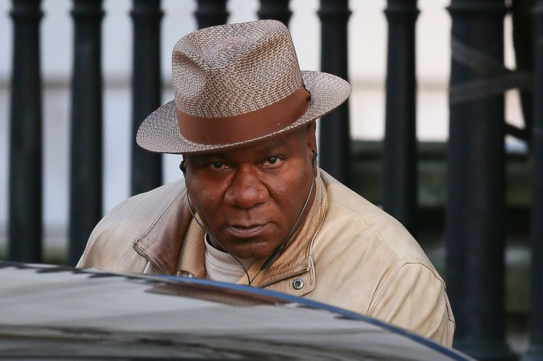 """Ving Rhames filming scenes for """"Mission Impossible 6"""" in London."""