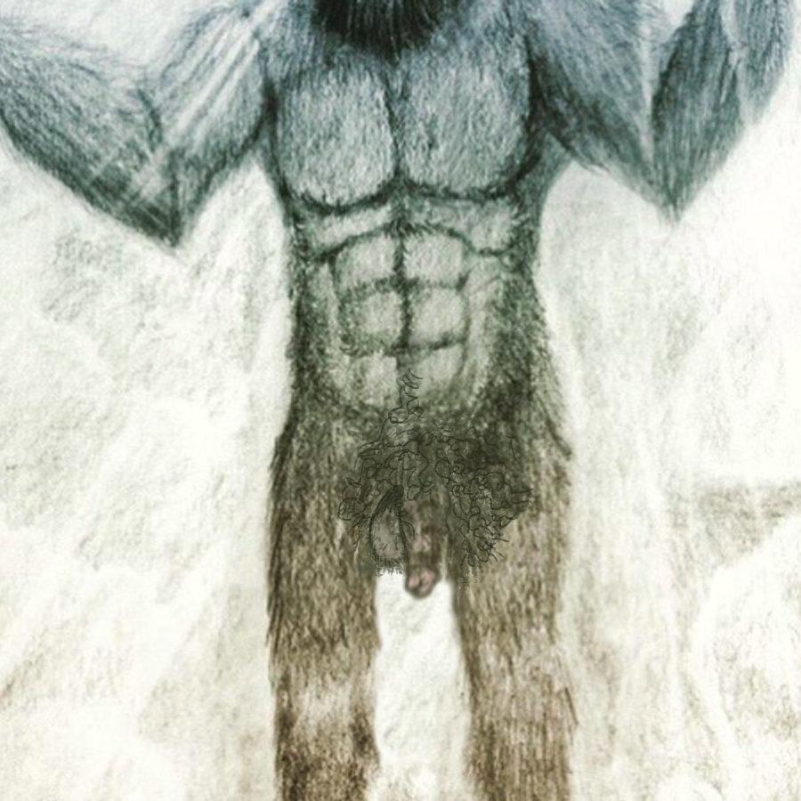Bigfoot'spenisafter a cold dip.