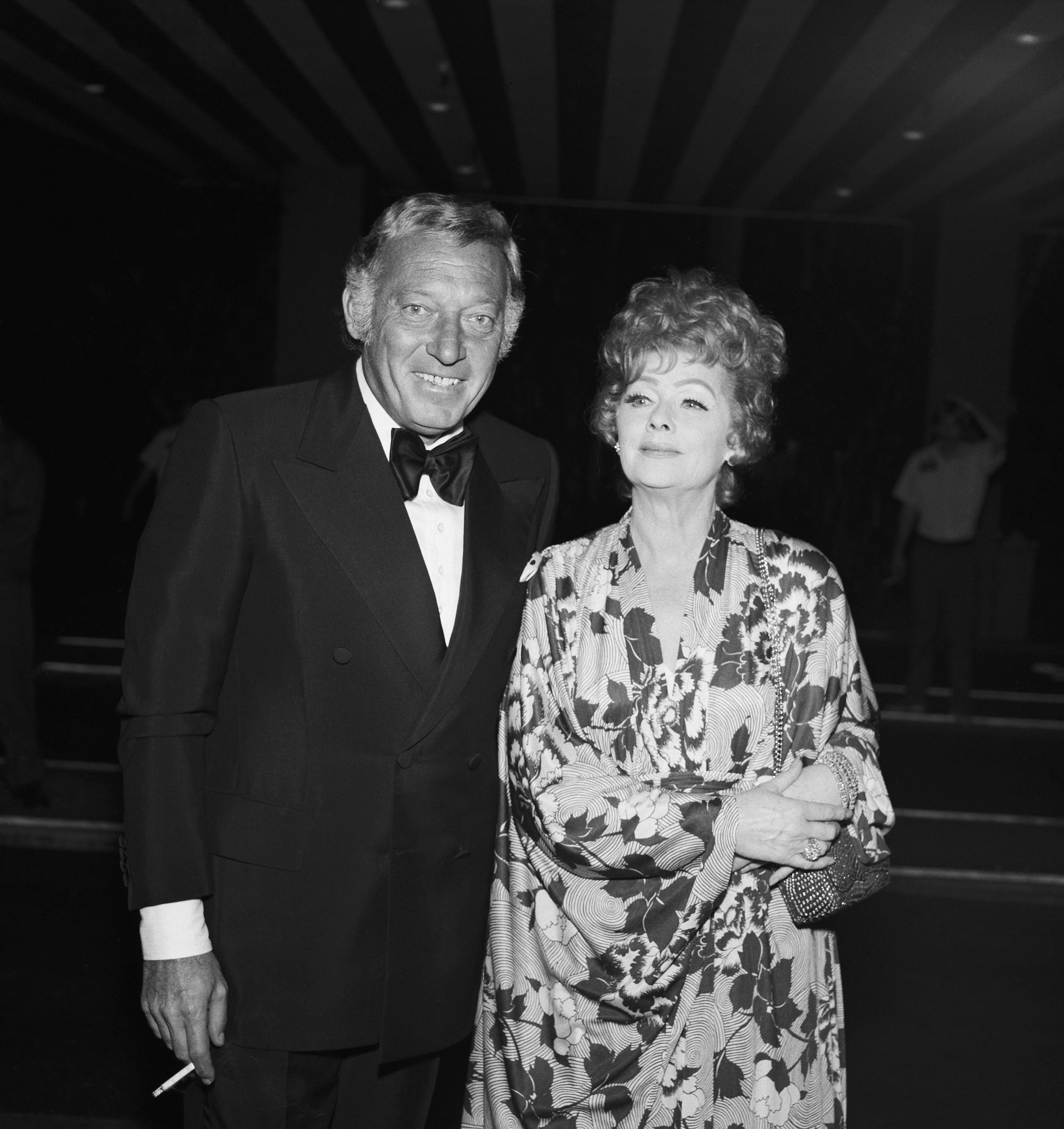 """Ball, with then-husband Gary Morton, during the """"Tonight Show Starring Johnny Carson"""" 10th anniversary party."""