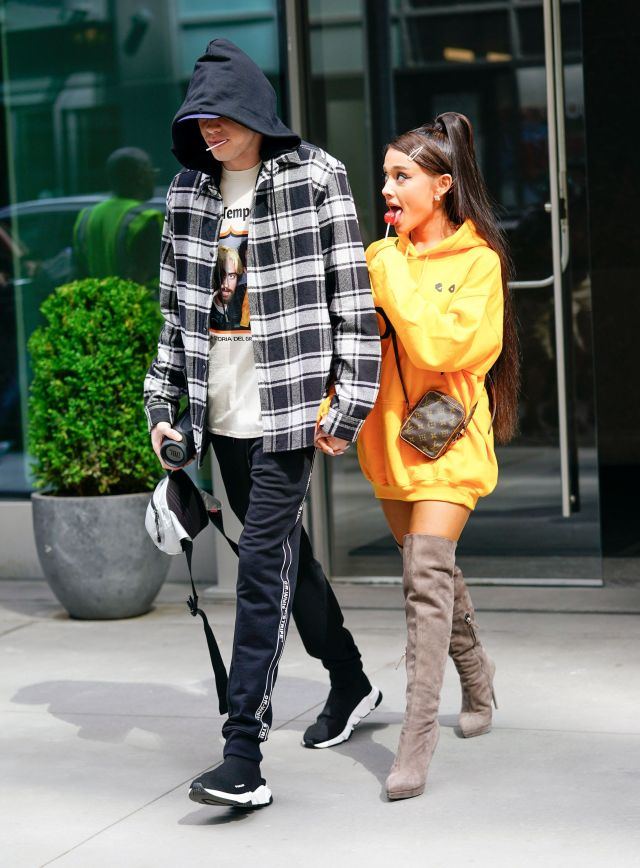 Pete Davidson and Ariana Grande together in New York in June.
