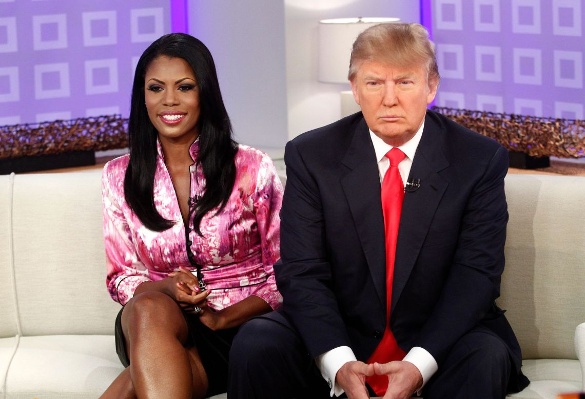 Omarosa Manigault-Stallworth and Donald Trump appear on NBC News' 'Today' show.