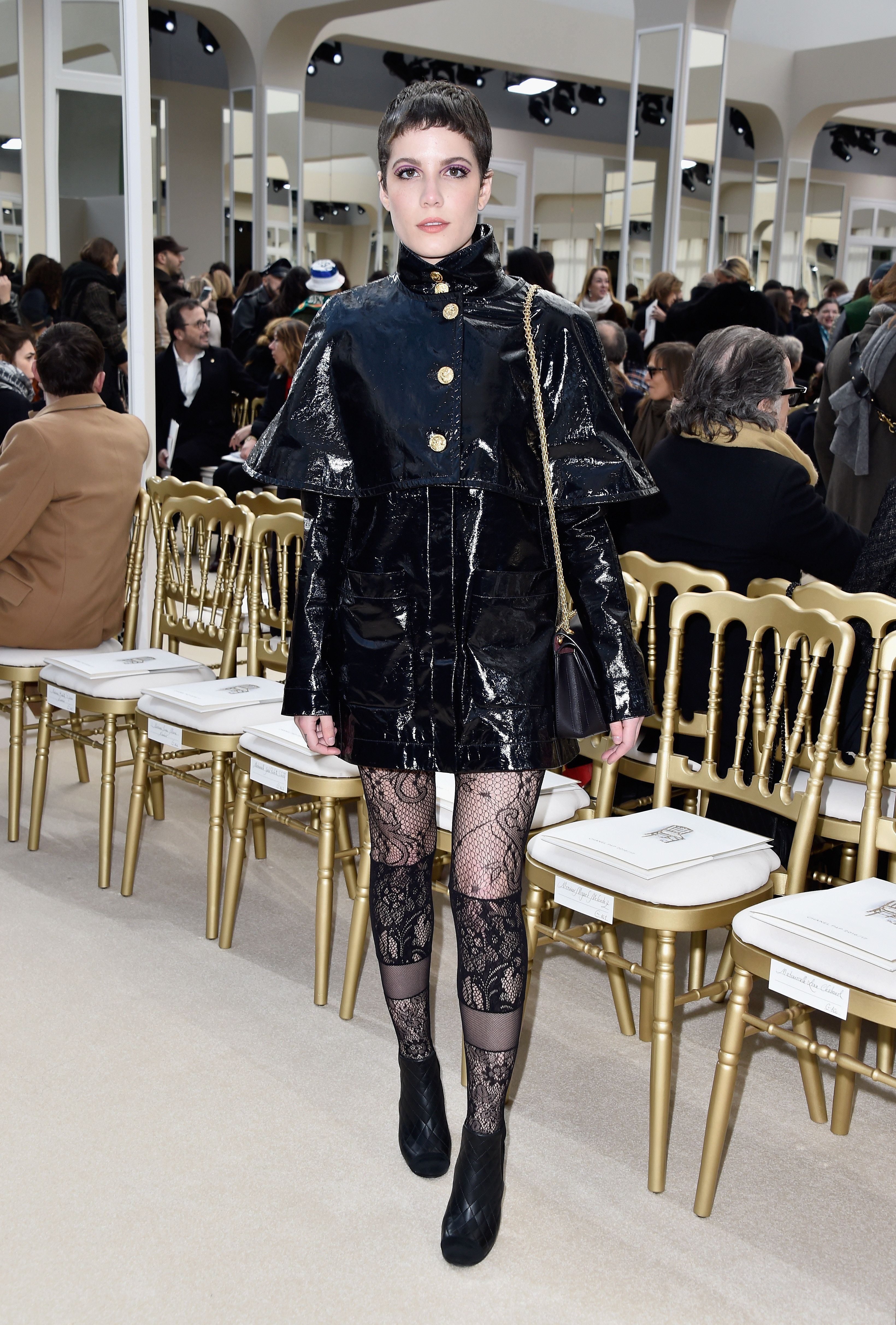 At the Chanel show during Paris Fashion Week on March 8.